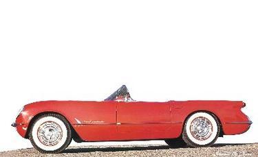 1953 red corvette